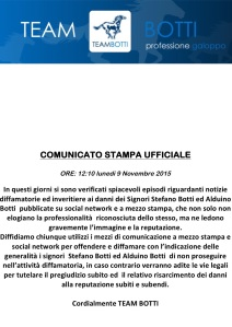 comunicato team Botti